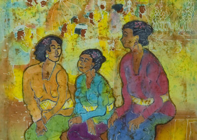 Women in front of the church - 45x60 cm - 2008