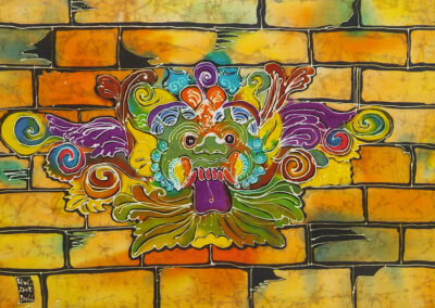 Barong stone relief - 45x63 cm - 2008