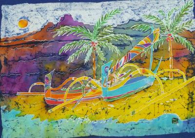 Balinese beach - 46x63 cm - 2008